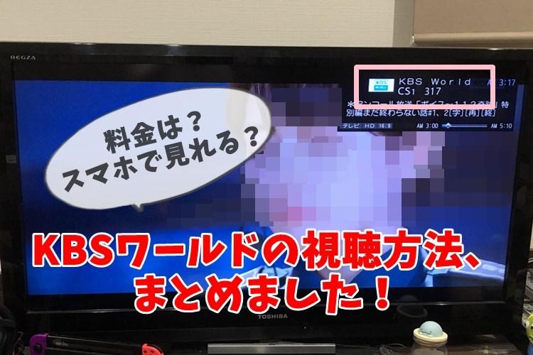 テレビで視聴中のKBSワールド
