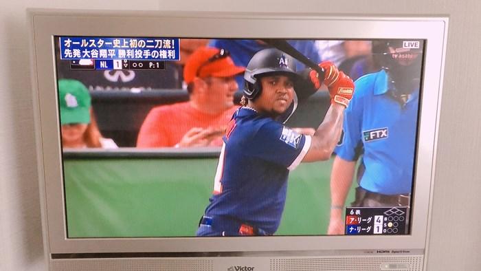 テレビ朝日で生中継しているメジャーリーグのオールスター(2)