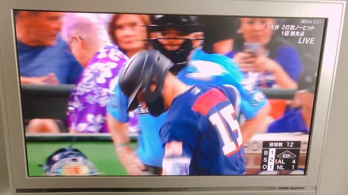 NHK BS1で生中継しているメジャーリーグのオールスター(2)