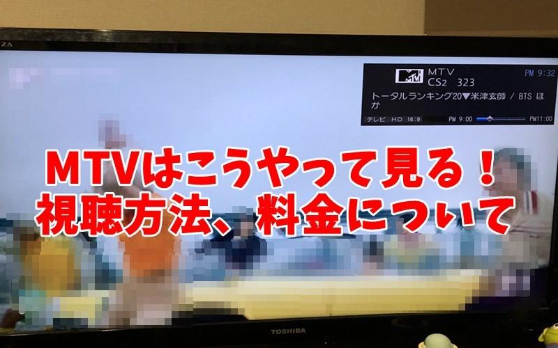 テレビで放送中のMTV