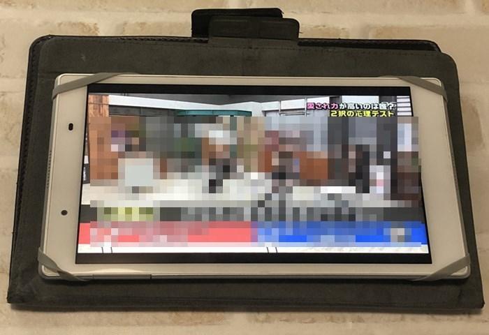 「ハロプロ!TOKYO散歩」タブレットで視聴中